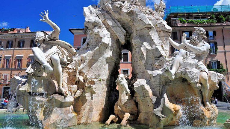 Fontanna Czterech Rzek - Fontana dei Quattro Fiumi