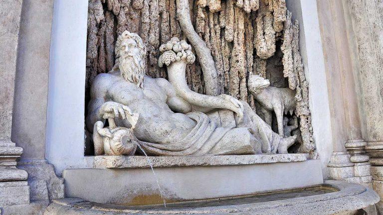 Cztery fontanny - Tybr / Quattro Fontane - Il Tevere